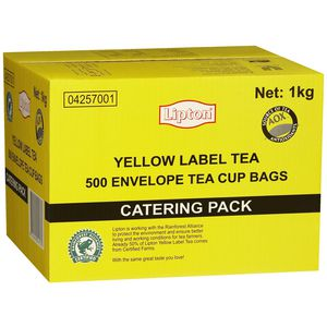 Lipton Yellow Label Envelope Tea Cup Bags Pack/500 -0