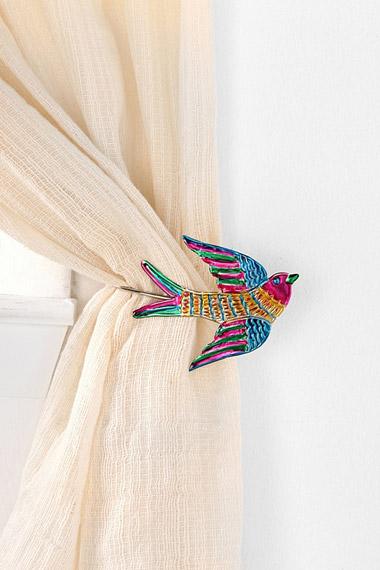 decorative bird curtain tie backs from
