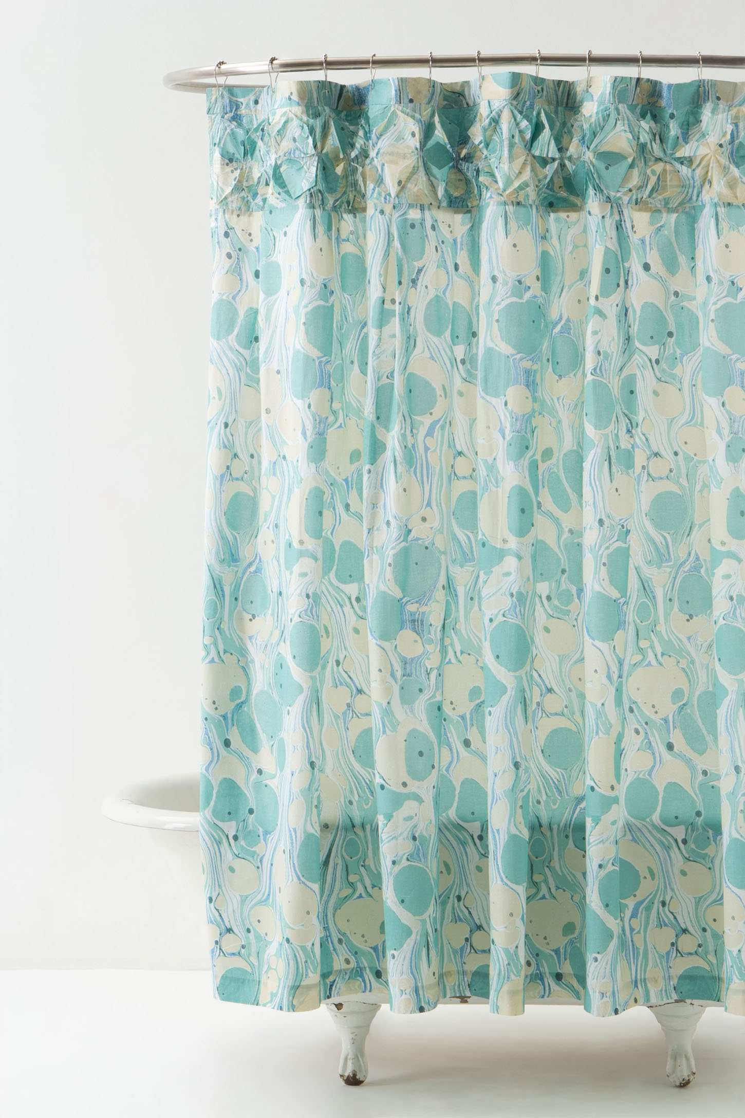 bournemouth turquoise shower curtain