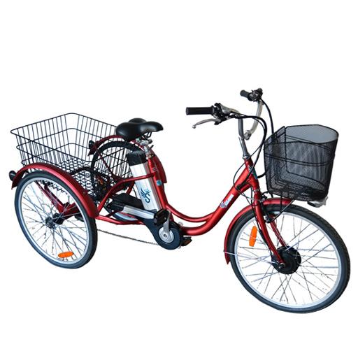 tricycle velo electrique 3 roues frein arriere a disque autonomie 50km