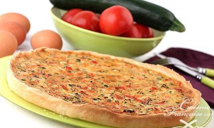 Tarte tomates et courgettes