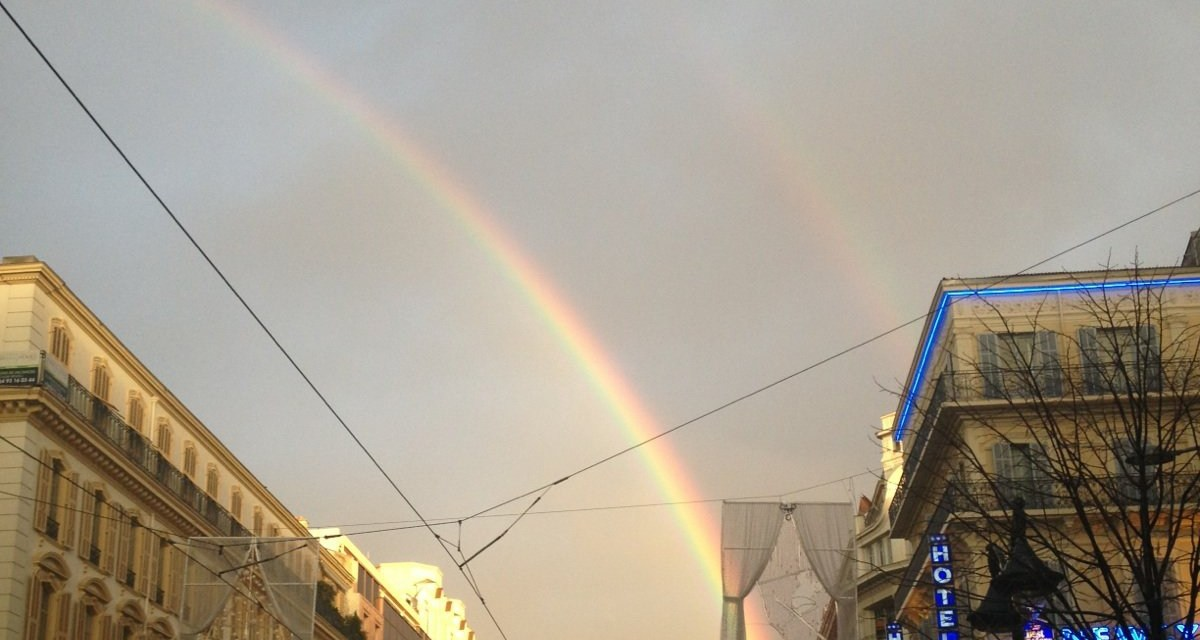 Photo de la semaine : Arc en ciel sur l'avenue Jean Médecin