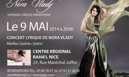 Concert  Lyrique de Nora Vlady