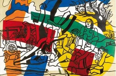 John Armleder/oeuvre invitée La partie de campagne de Fernand Léger