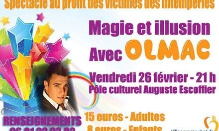Spectacle de magie et d'illusions avec le magicien Olmac
