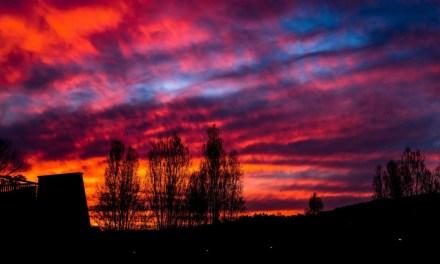 Photo de la semaine : Coucher de soleil sur Mandelieu