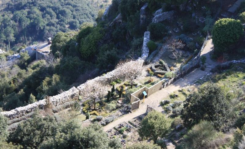 Les ruines du Château et le jardin médieval