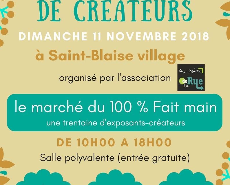 MARCHE DE CREATEURS 100 % FAIT MAIN