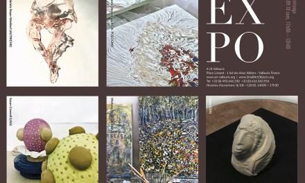 Invitation exposition des oeuvres créées par 5 artistes internationaux