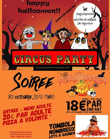 Soirée Halloween au Circus Party Mougins