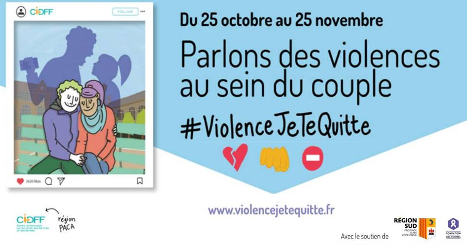 Présentation de #violencejetequitte à Hyères