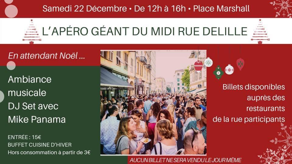 Apéro géant de la rue Delille « En attendant Noël »