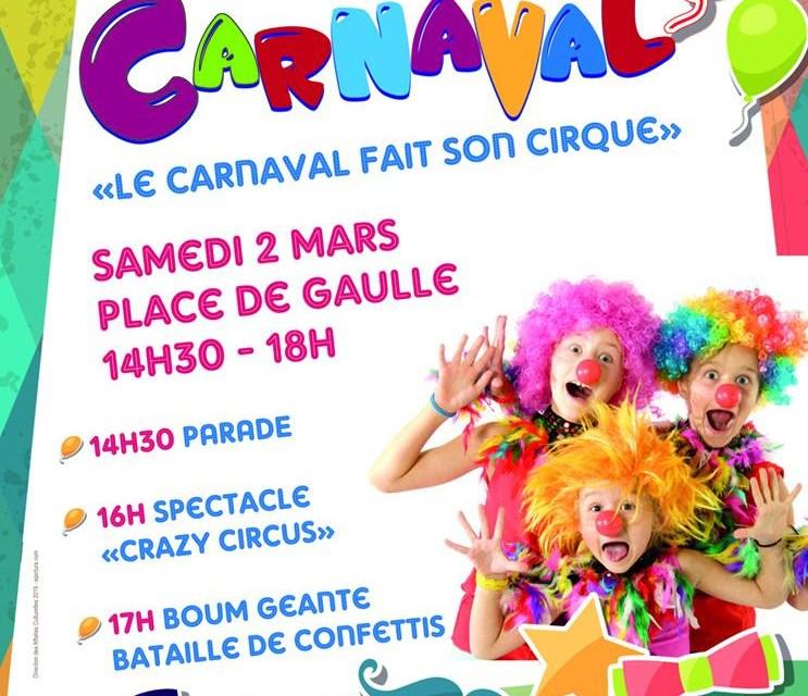 Le carnaval fait son cirque
