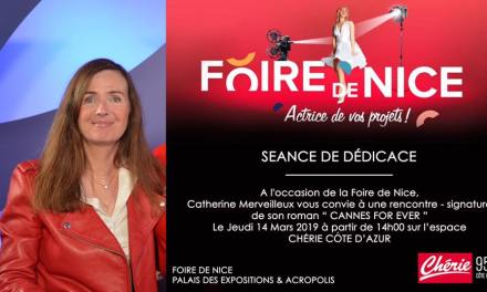Dédicace – signature du Roman CANNES FOR EVER à Nice