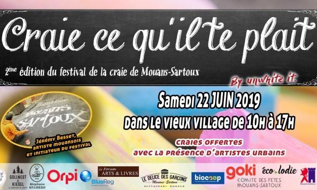 """Festival """"Craie ce qu'il te plait"""" à Mouans-Sartoux"""