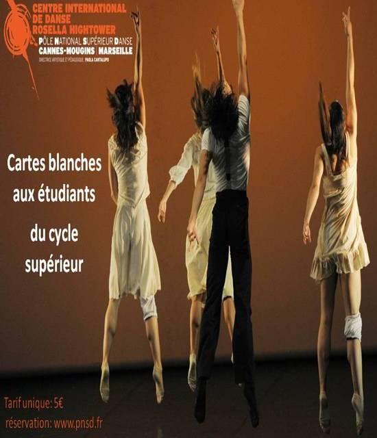 """""""Cartes blanches"""" par le Centre International de Danse Rosella Hightower"""
