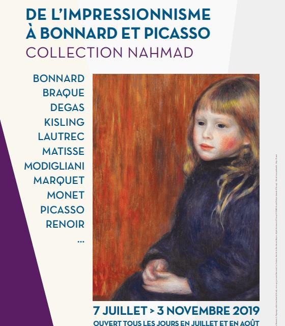 Exposition : DE L'IMPRESSIONNISME À BONNARD ET PICASSO COLLECTION NAHMAD