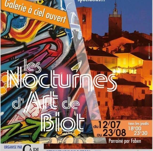 Les Nocturnes d'Art à Biot