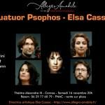 Quatuor Psophos et Elsa Cassac ( piano) à Cannes