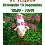 SAINTE-CROIX-du-VERDON – 4ème FÊTE DU COCHON ET DE LA COUENNE