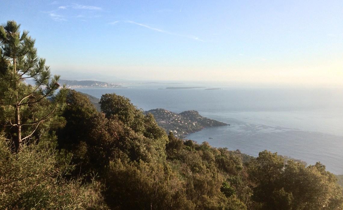 Blick vom Massif de L'Estérel nach Cannes