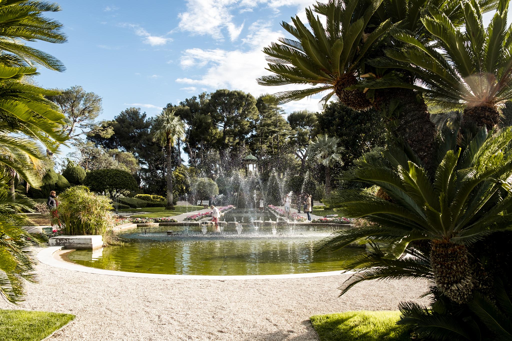 Garten der Villa Rothschild Saint-Jean Cap Ferrat Cote d'Azur