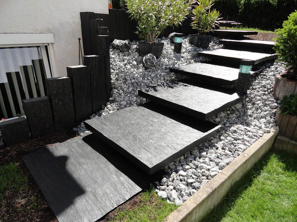 Escaliers Exterieurs En Ardoise Les Idees De Cote Deco