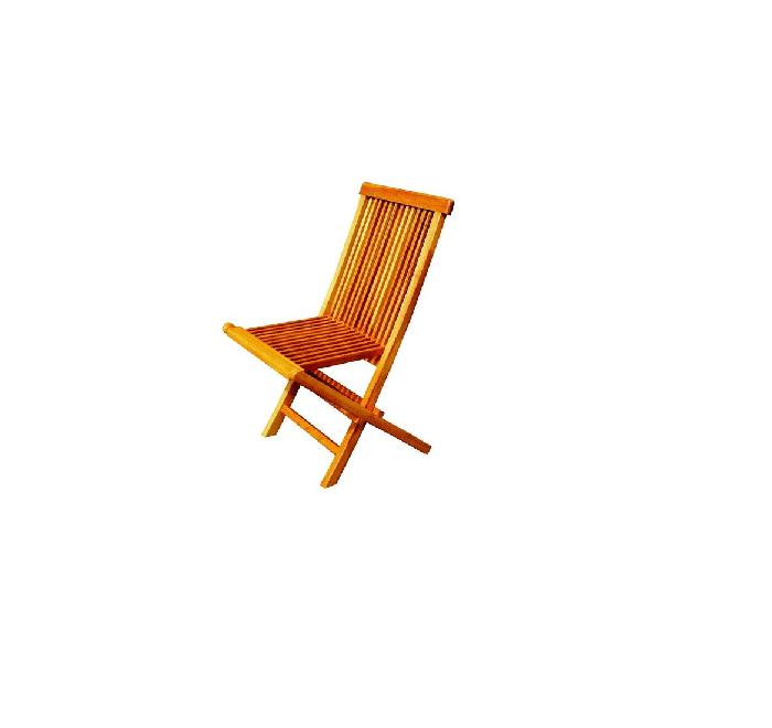 lot de 4 chaises pliantes jardin teck brut huile