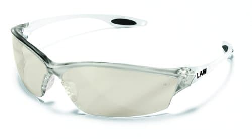 MCR LW219 Crews Law 2 Safety Glasses Clear Frame Indoor/Outdoor Lens 1 Pair
