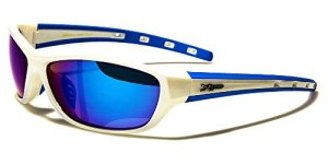 X-Loop Lunettes de Soleil – Sport – Cyclisme – Ski – Vtt – Running – Moto – Tennis / Mod. Cobalt Blanc Bleu
