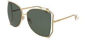 Gucci Lunettes de Soleil GG0252S GOLD/GREEN femme