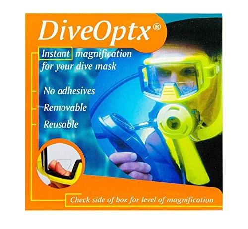 Autocollant-loupe de lecture pour masques de plongée, lunettes de ski, lunettes de natation, lunettes de soleil, Clear Bifocal Lens, 2.50