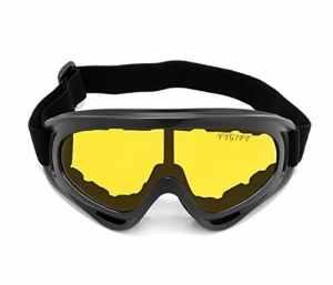 YYGIFT CS Masque Coupe-Vent UV400de Moto de vélo motoneige Lunettes de Ski Lunettes de Protection Sport Lunettes de sécurité, Jaune