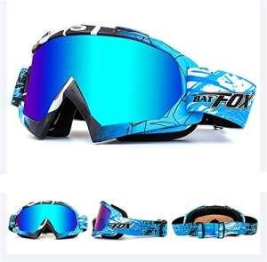 Lunettes de protection IHRKleid – Pour moto, snowboard, ski, dirt bike – Protection contre la poussière et le vent – Idéales pour sport d'hiver., bleu