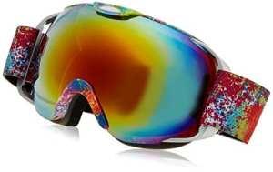 Professionnelle Protection anti-buée anti-vent double couche lentille UV masques de ski Snowboard Skate, clarté unisexe Vision lunettes de Ski (Fleur)