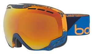 Cébé Emperor Masque de Ski Mixte Adulte, Marine/Orange Zenith, M/L