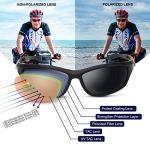 Occffy Lunettes de Soleil Polarisées pour Hommes – UV400 pour Sports Baseball Course Cyclisme Pêche Golf Tr90 (Cadre Mat Noir avec lentille Noire)