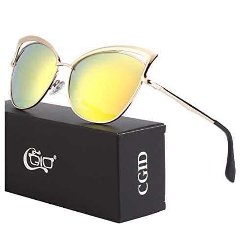CGID Lunettes à verres transparents pour Femme B7 Or Or M