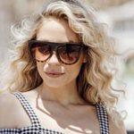 Cheapass Lunettes de soleil Marron Léopard Oversize XXL UV400 Lunettes Designer Femmes