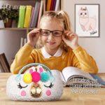 Etui à lunettes licorne, lama, boite rigide pour femme, enfant, fille, protection pour lunette de vue et de soleil, boitier de rangement pouvant servir de sac à main ou trousse, idée cadeau original