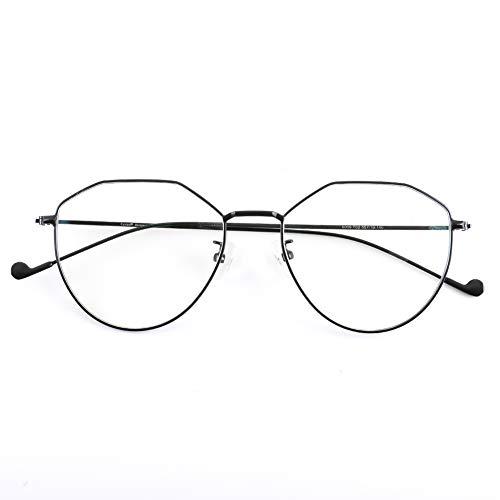 Cyxus Blocage de la lumière bleue [Lunettes anti-fatigue oculaire],Lunettes de lecture rétro à verres transparents, hommes/femmes (Noir (Forme Coeur))