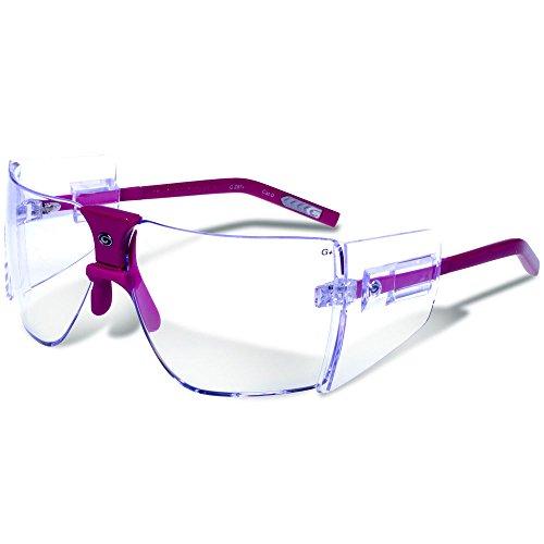 Gargoyles Performance Eyewear Lunettes de sécurité classiques en polycarbonate, monture fuchsia/verres transparents.
