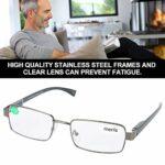 Lunettes de lecture confortables douces, verres oculaires, acier inoxydable durable pour les hommes adultes