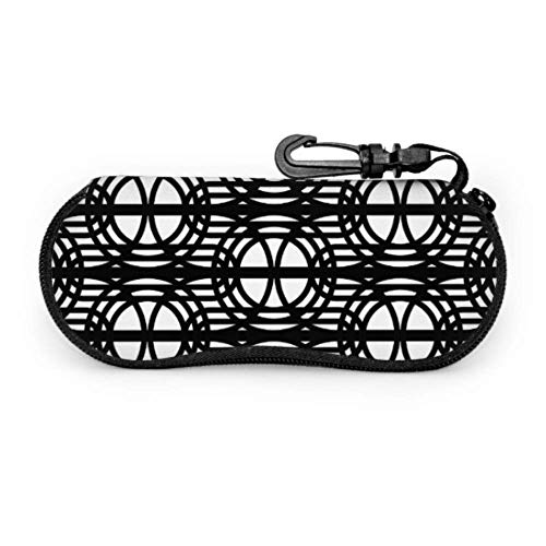 PageHar Abstrait géométrique noir Design enfants lunettes de soleil pochette hommes lunettes de soleil étui Portable néoprène fermeture éclair étui à lunettes personnalisé