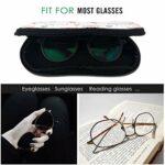 PageHar Motif mignon de bande dessinée hiboux lunettes cas pour les filles Hommes Lunettes de soleil Case Portable néoprène Zipper Lunettes Case