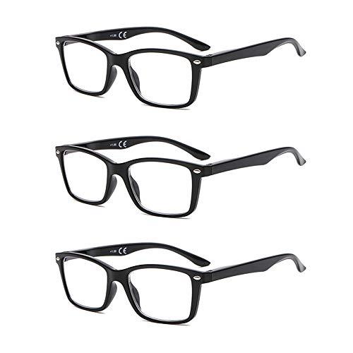 Suertree Lunettes de Lecture, Lunettes de Pour Ordinateur Aide visuelle Soins oculaires Lunettes Aide à la lecture pour femmes Hommes de Lunettes 3.0 BM151