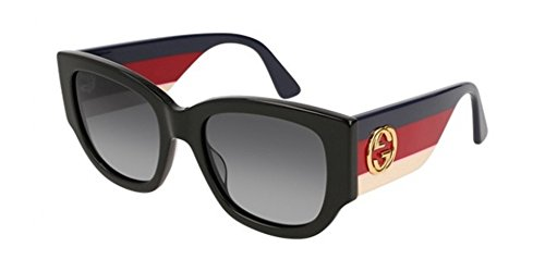 Gucci GG0276S-001 lunettes de soleil, Noir, 53.0 Femme