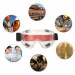 Lunettes, lunettes anti-poussière supérieures réglables réutilisables, ouvrier pour soudeur électricien mineur