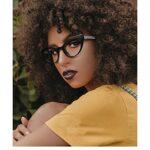 HAOMAO Cat Eye Tr90 cadre bleu lumière revêtement lumière bloquant les lunettes d'ordinateur pour hommes et femmes anti-nocives lunettes C1Black