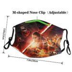 Star Wars Masque UV pour la pêche, la chasse, la course à pied, le ski